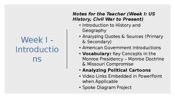 """US History """"Back to School"""" Review - Antebellum America, Civil War PowerPoint"""