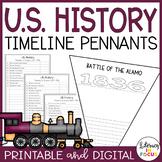 US History Timeline Activity (Editable - Printable - Digital)