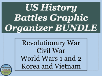 US History Battles Graphic Organizer BUNDLE