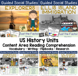 Guided Social Studies: US History 5W's and How Bundle