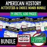 American History Activities American History Choice Board