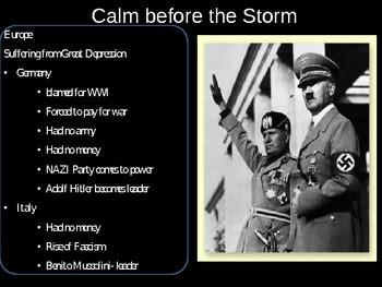 US History Causes of World War II