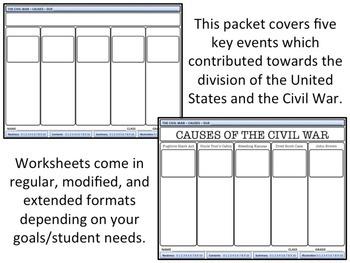 Causes Of The Civil War Homework By Mrgrayhistory Tpt