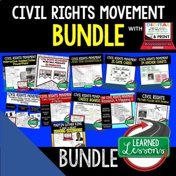 US History Civil Rights Movement BUNDLE (American History Bundle)