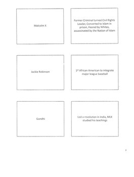 US History Civil Rights Flash Cards