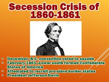 Events Leading To Civil War PowerPoint (Civil War / U.S. History)