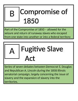 US History Civil War Loop Cards Scavenger Hunt