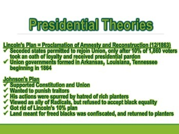 Civil War Reconstructing the Nation PowerPoint (U.S. History)