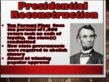 Two Views of Reconstruction PowerPoint (Civil War / U.S. History)