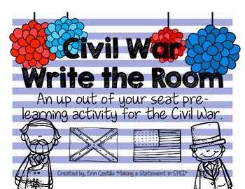 US History Civil War Write the Room