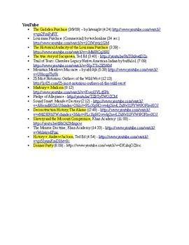 US History Clip List, Westward Movement (1800-1850)
