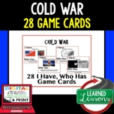 US History Cold War  Game Cards (28 I Have Who Has Cards)