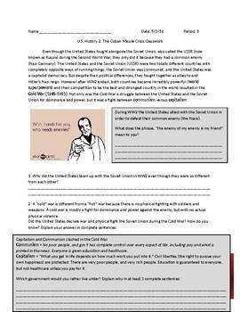 US History: Cold War/Cuban Missile Crisis
