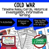 US History Cold War Timeline Relay & Writing Prompt with G