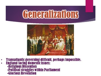 Colonial America English Colonial Relationship PowerPoint (U.S. History)