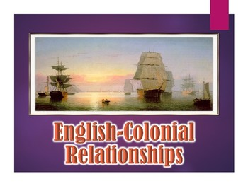 Colonial America English Colonial Relationship PowerPoint