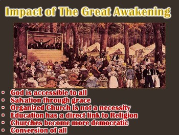 Colonial America Great Movements PowerPoint (U.S. History)