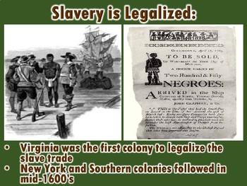 Origins of Slavery PowerPoint (U.S. History/Geography)