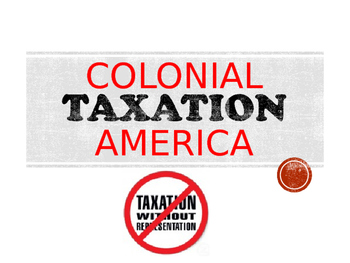 Colonial America Road to Revolution & Taxation PowerPoint (U.S. History)