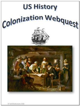 US History - Colonization Webquest for Google Apps - Internet Activity