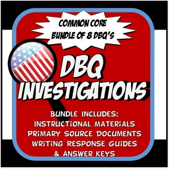 DBQ US History Document Based Question Common Core Activity Bundle