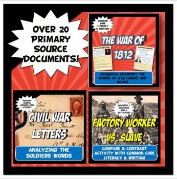 US History Common Core Primary Source Resource Bundle