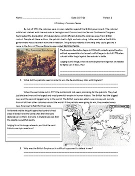US History: Common Sense