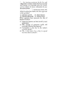 US History - Conclusions / Generalizations Skills Quiz 2 of 6 (Units 11-20)