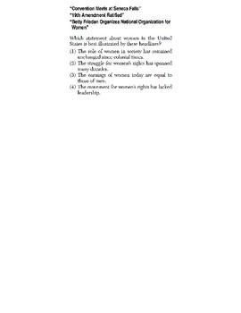 US History - Conclusions / Generalizations Skills Quiz 5 of 6 (Units 29-32)