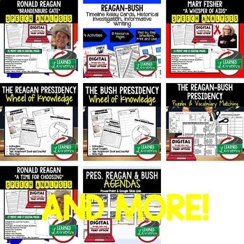 US History Reagan & Bush BUNDLE (American History Bundle)