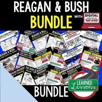 US History Conservatives Reagan & Bush BUNDLE (American Hi