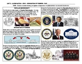 US History - Constitution Separation of Powers Homework