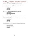 US History Constitution Vocabulary Quiz