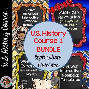 US History Course 1 Interactive Notebook Bundle