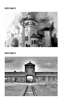 U.S. History- Create a Picture Caption- Holocaust  In Class Activity