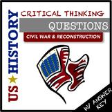 US History Questions: Civil War & Reconstruction