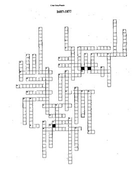 US History Crossword review 1607-1877