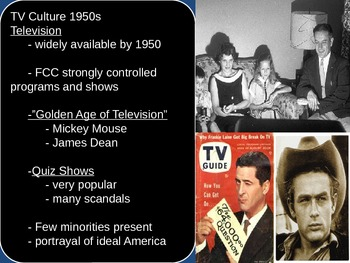 US History Culture of the 1950s Society/Rock n Roll/Suburbs