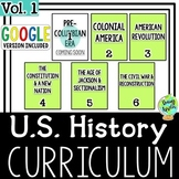 US History Curriculum Vol. 1, American History Curriculum Part 1