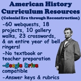 US History Curriculum Resources (Projects, Webquests, Gallery Walks)