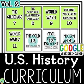 US History Curriculum Vol. 2, American History Curriculum Part 2