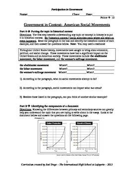 U.S. History DBQ Essay - Government