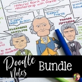 US History DOODLE NOTES BUNDLE
