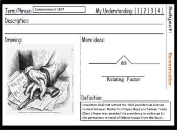U.S. History Daily Vocabulary Warm-Ups: 1492-1877