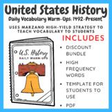 U.S. History Daily Vocabulary Warm-Ups: 1492-Present (Bundle)