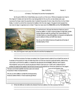 US History: Dawes and Homestead Acts