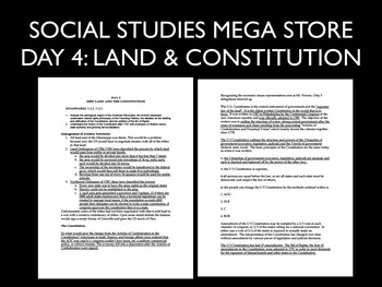US History Day 5 Notes New Land and Constitution