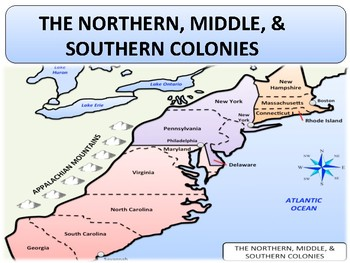 northern middle southern colonies