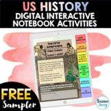 US History Digital Interactive Notebook Activities Sampler