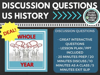 US History Discussion Questions for the whole year